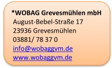 Adressdaten der WOBAG