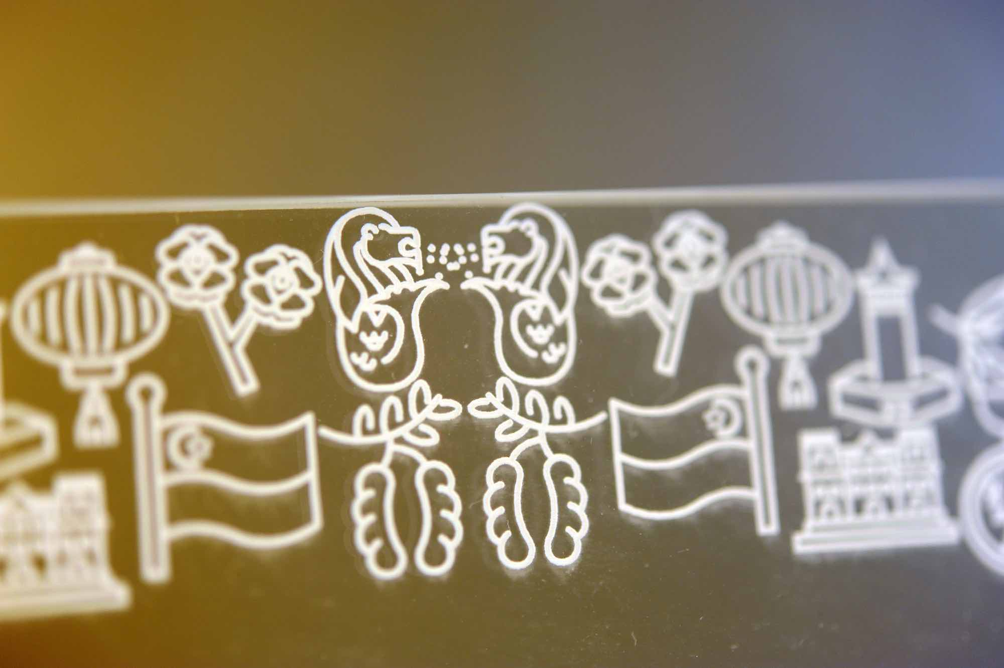 Laser engraving icons