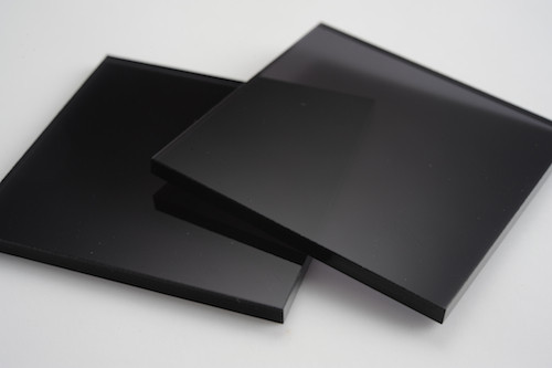 Tinted Dark Black Acrylic Display Design Production