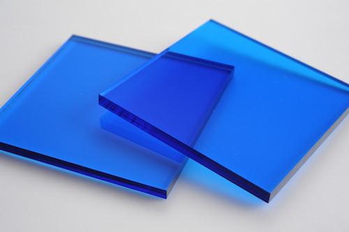 Tinted Blue Acrylic Display Design Production Singapore