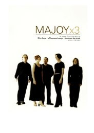 MaJoy: x3 Songbook