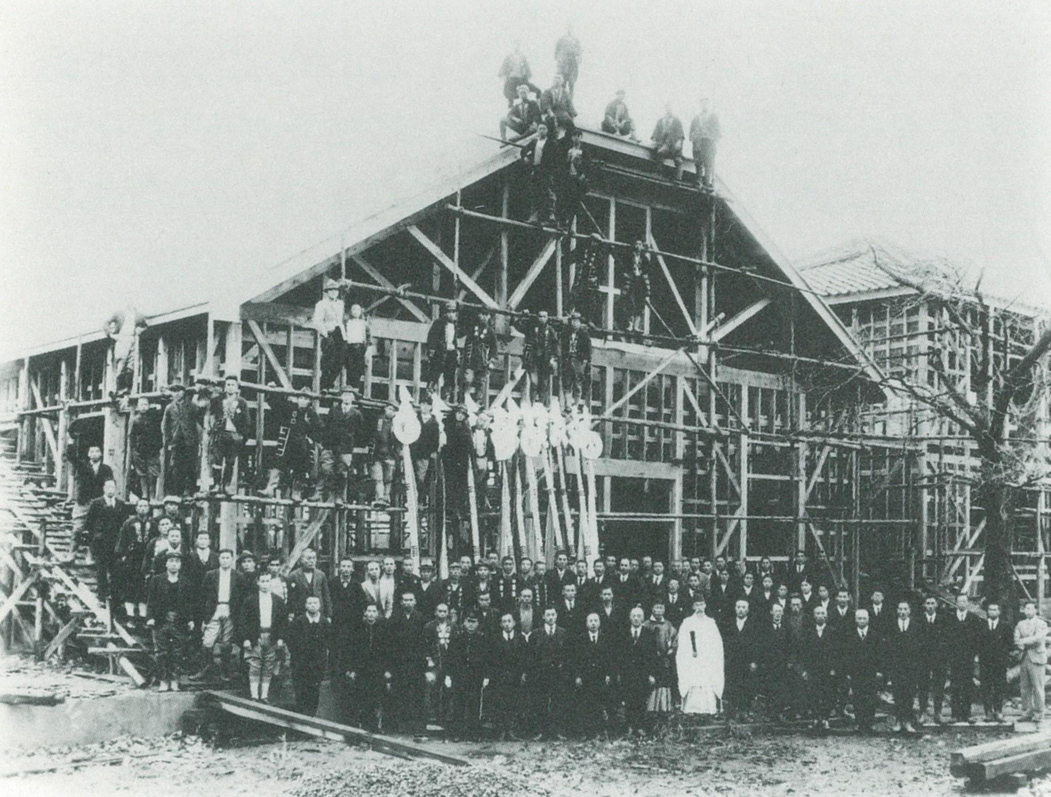 下黒川中学校建築(昭和26年)