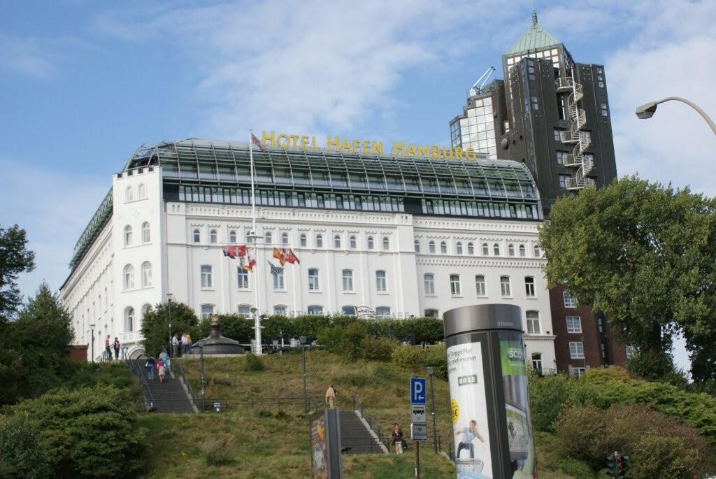 Hier haben wir gewohnt. Im Hotel Hafen Hamburg.