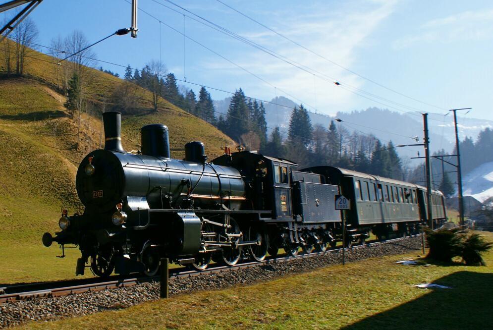 In rassiger Fahrt in Richtung Langnau.