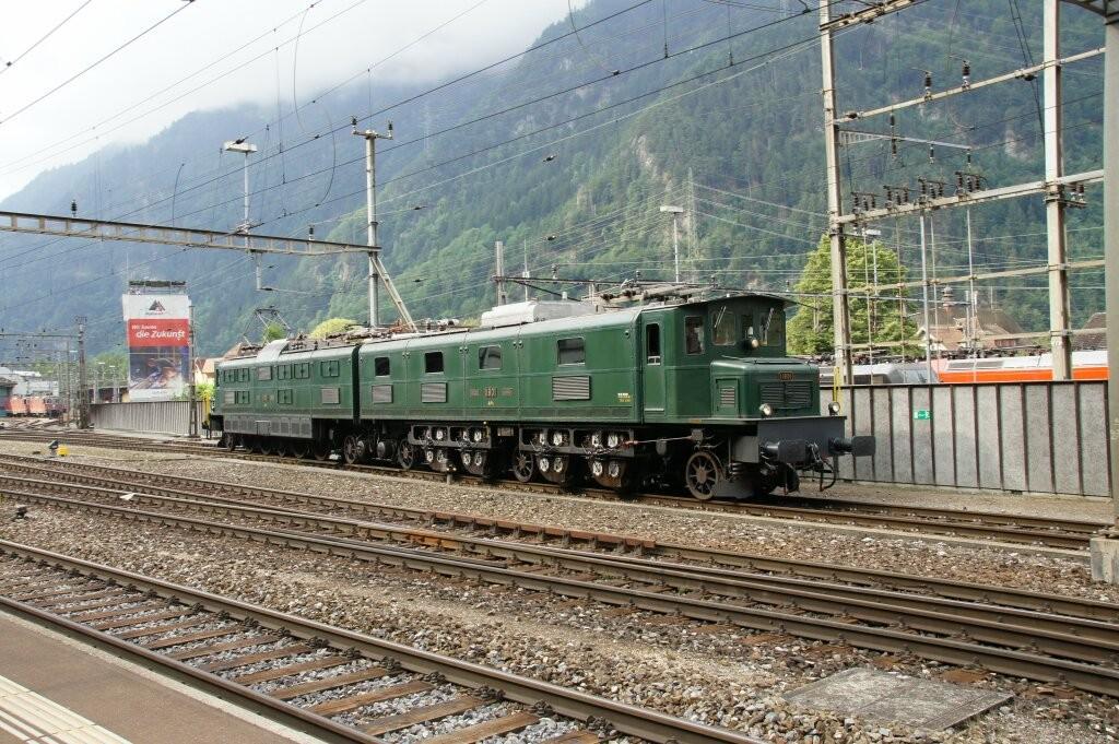 """Die Ae 8/14 war einmal die stärkste Lokomotive der Welt. Sie ist noch gut im Schuss. Übrigens, der """"Sound"""" ist einzigartig."""