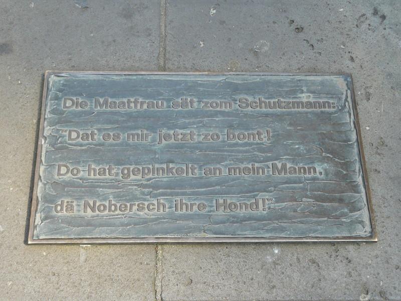 Die Inschrift in Koblenzer Mundart