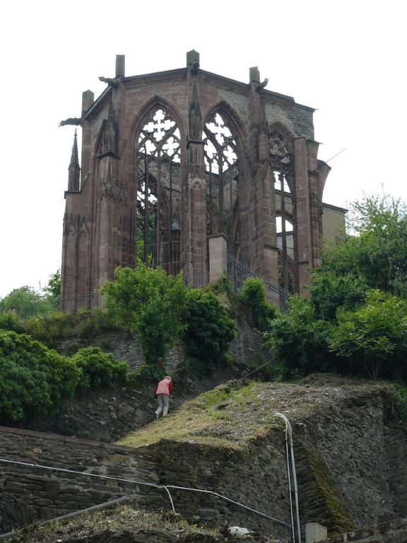 Die Ruine der Wernerkappelle in Bacharach (Mahnmal)