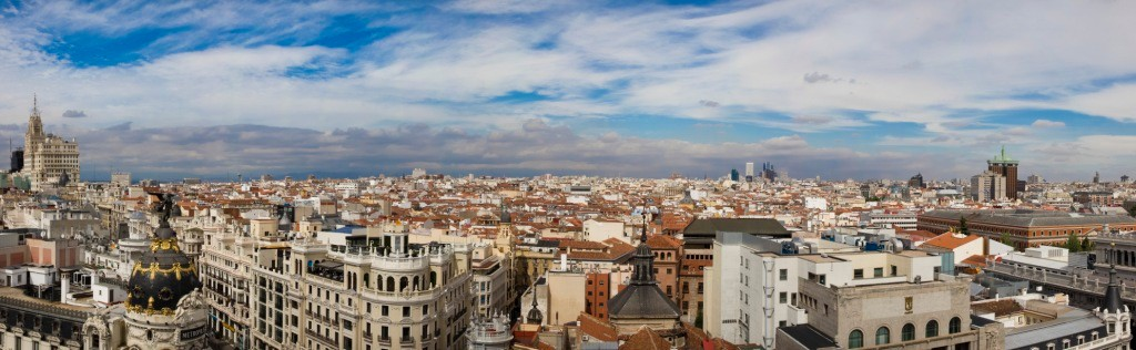 Madrid - Panorama dalla terrazza del Circulo de Bellas Artes - (2014)