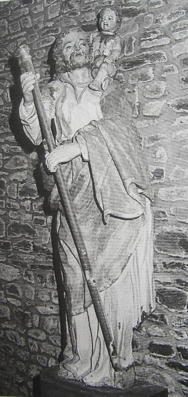 Saint-Christophe-de-Chaulieu, statue XVIII eme