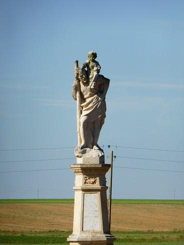 Statue monumentale de Saint Christophe