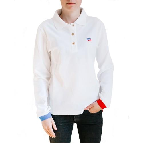 Polo Blanc céleste pour femme