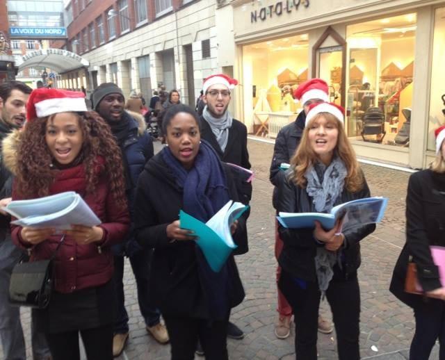 Les chanteurs dans les rues de Lille