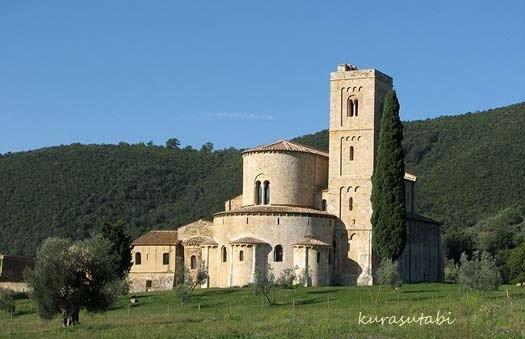 Sant'Antimo トスカーナ修道院めぐり サンタアンティモ修道院
