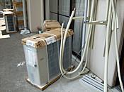 エアコン室外機取付工事
