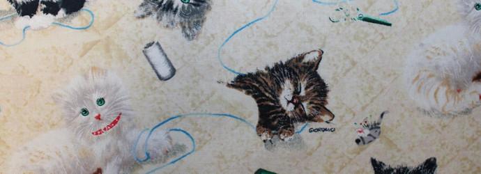 """<font size=""""+1""""><font color=""""#336666"""">Neu eingetroffen: Katzenkissen aus hübschem Druckstoff...."""