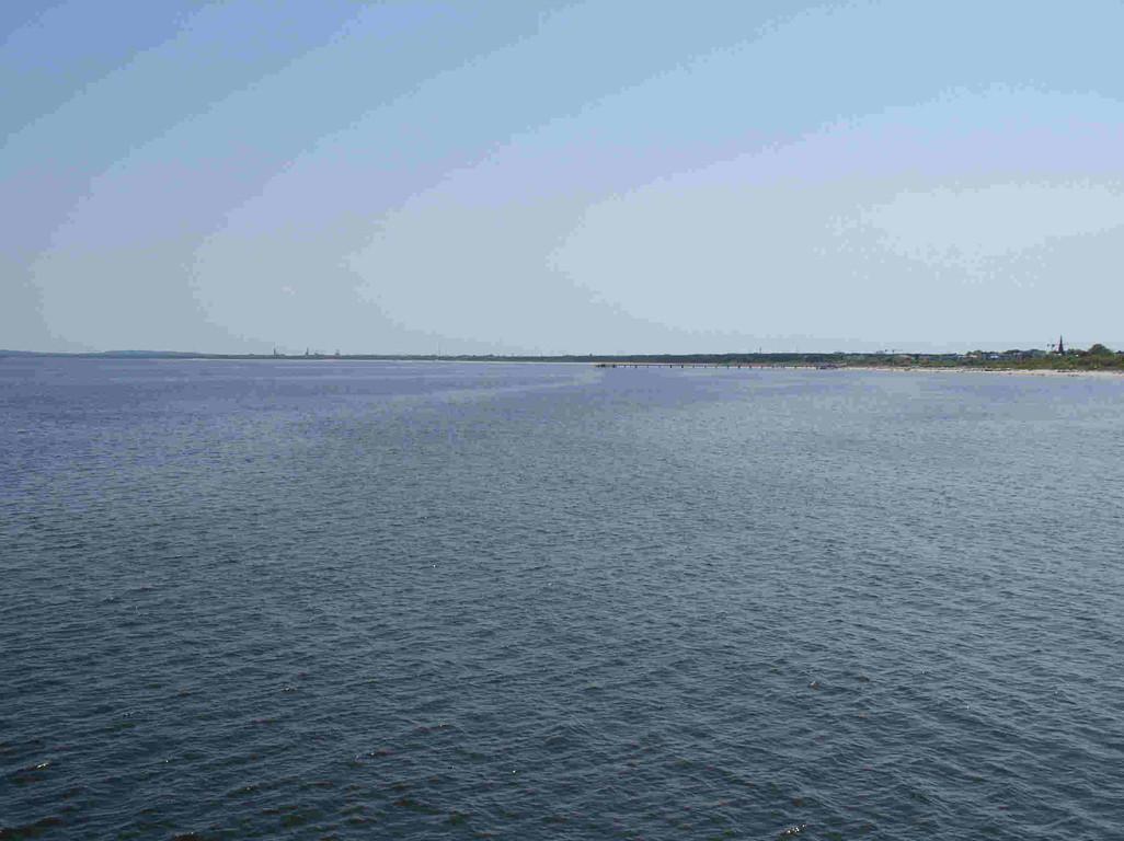 Blick von der Seebrücke in Ahlbeck