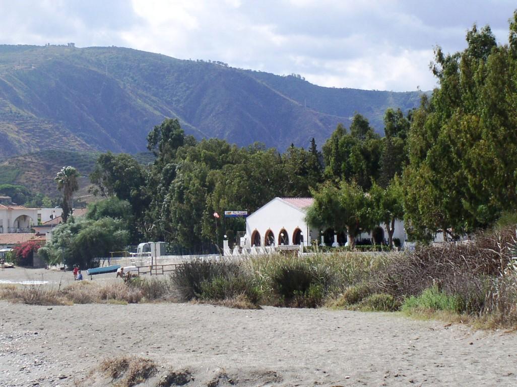 Campingplatzeingang vom Strand