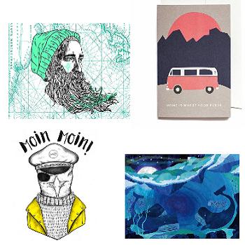 Tolle Postkarten, Grußkarten, Notizblöcke & Bücher