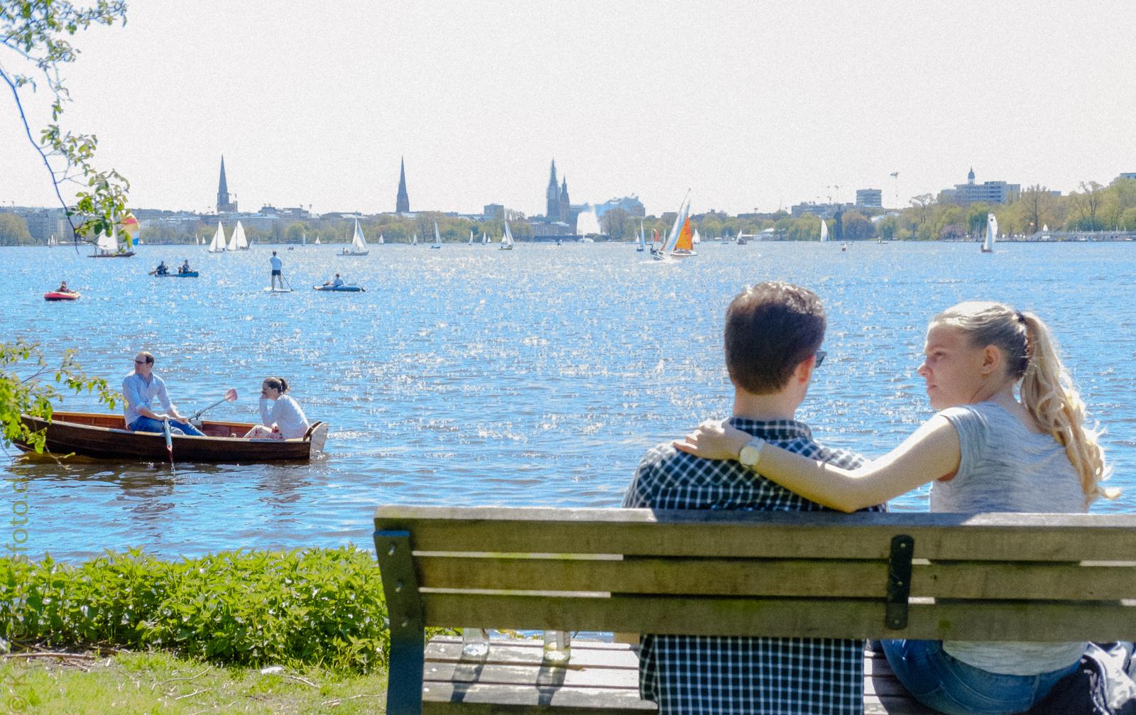 An der Alster, Hamburg