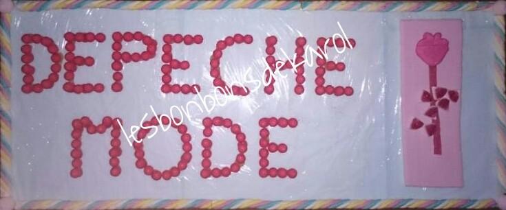 DEPECHE MODE 48 € (120x50 - 2 kg et 240 bonbons + 3,40 m de tresse + plaque lard)