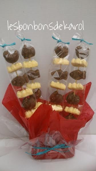 BROCHETTES GUIMAUVE CHOCOLAT