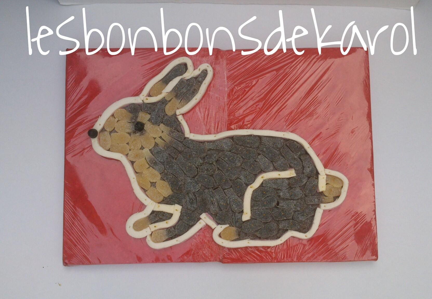 LAPIN 34 € (910 gr bonbons - 41x58 cm)