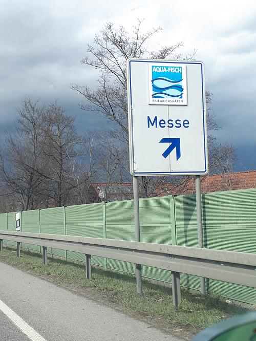 Verkehrsschild Aqua-Fisch Friedrichshafen