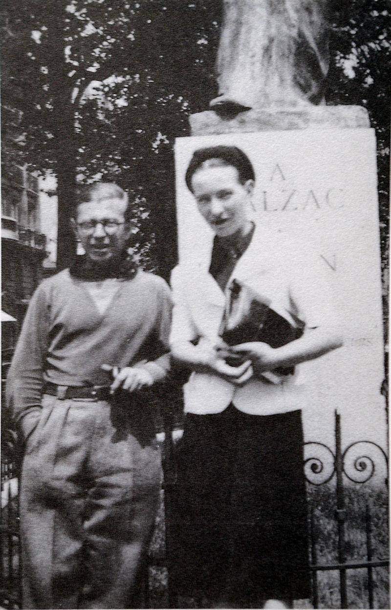 Simone de Beauvoir et son mari Jean-Paul Sartre dans les années 1920.