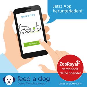 1€: Mehr brauchen Sie nicht, um mit feed-a-dog einen Hund für einen Tag satt zu machen.