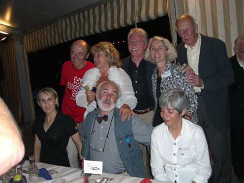 Natalija Cernetsova und Herr Nelson mit amerikanischen Freunden.