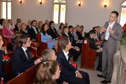 Ansprache von Karl Kicker, dem stellvertr. Gemeinderatsvorssitzendem