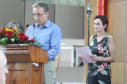 Christian Ellegast und Gabi Rabe, Gemeinderat