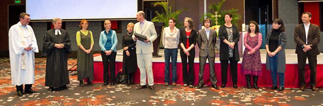 Der Gemeinderat der DCGS verabschiedet Peter Zumbusch