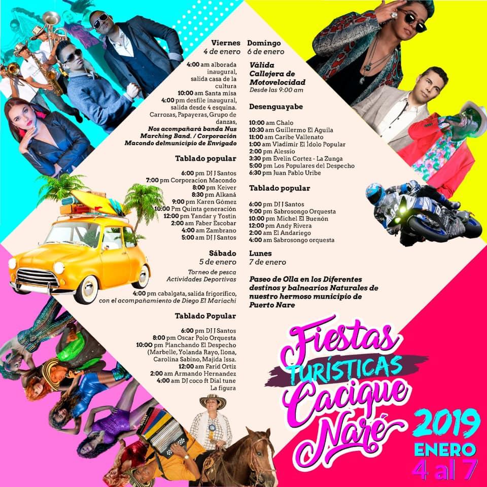 ARMANDO HERNÁNDEZ Y SU COMBO EN LAS FIESTAS DEL CACIQUE NARE (PUERTO NARE) 5 DE ENERO 2019