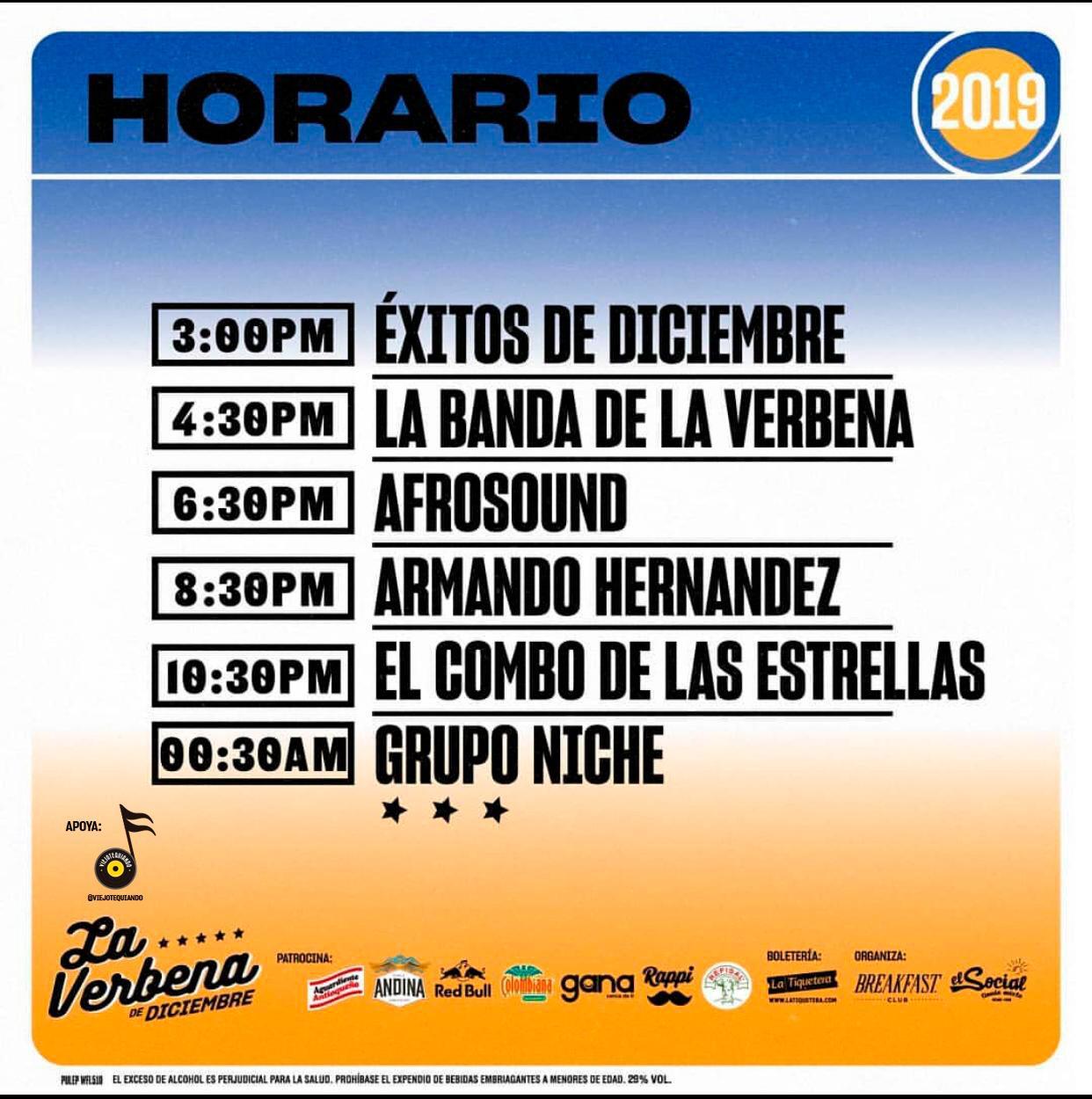 Armando Hernández y su combo en La verbena de Diciembre 07 dic 2019