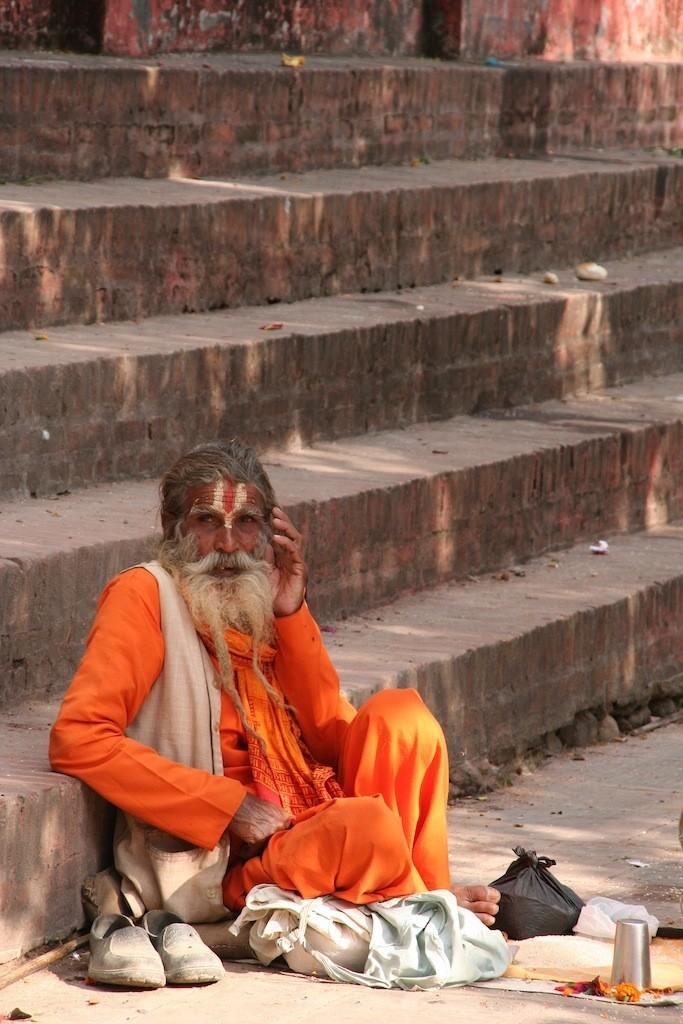 Hinduistischer Bettelmönch-Sadhu