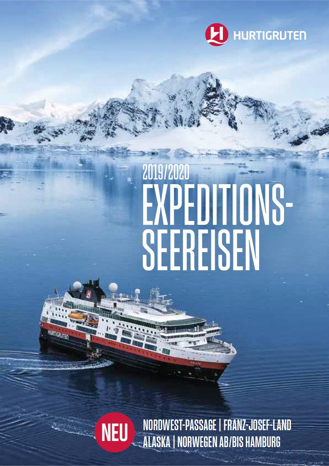 Expeditionen mit dem Hurtigruten Schiffen