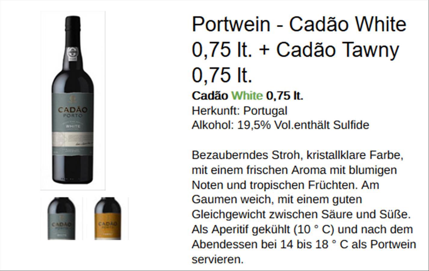 Neue Portweinsorte:  Cadão und Meer...