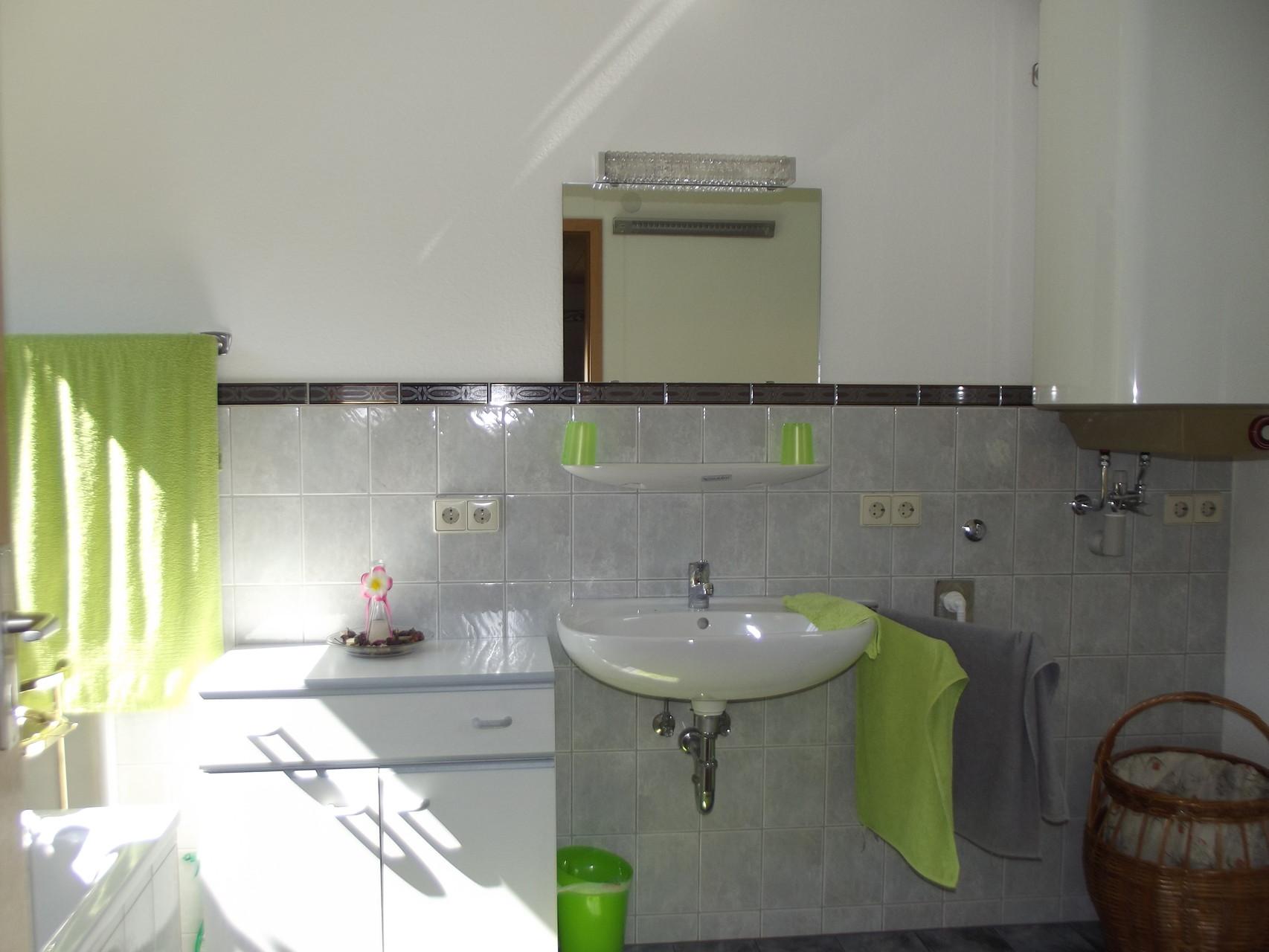 Dachwohnung: Bad/Waschplatz