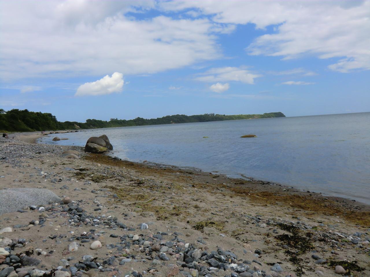 Strandabschnitt unterhalb des Stellplatzes