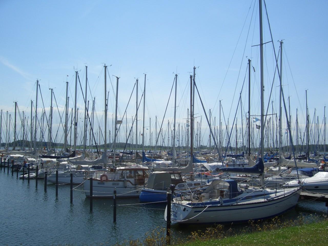 Der Seglerhafen direkt neben dem Stellplatz