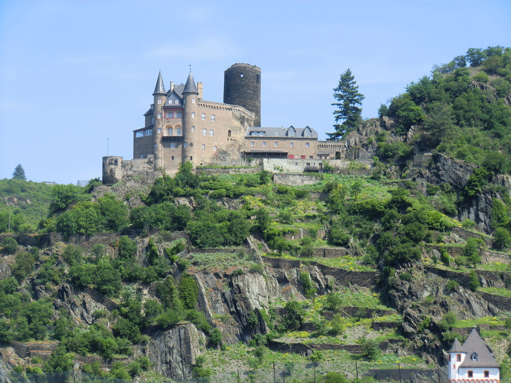 die Burg Katz auf dem Weg nach St. Goar