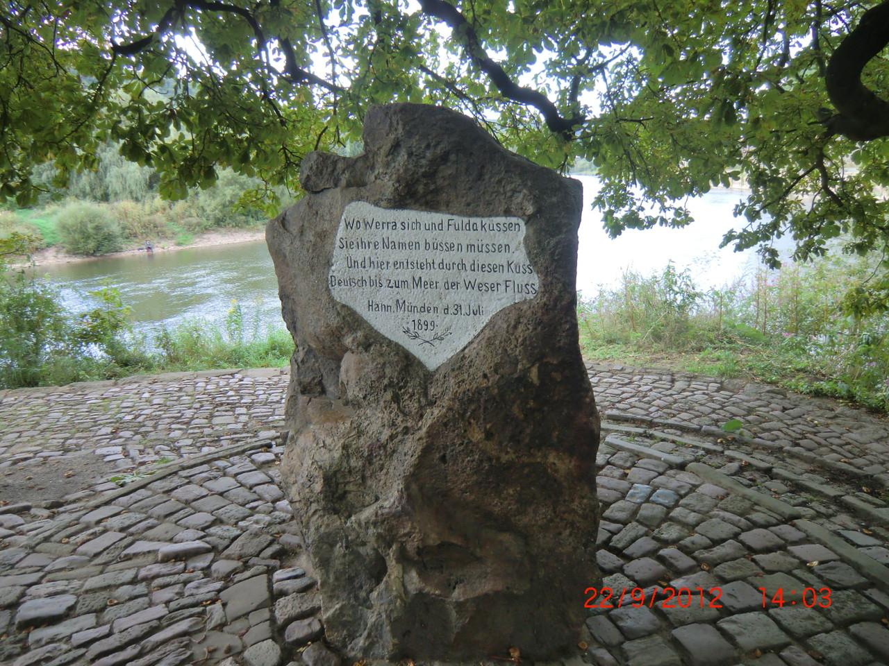 am Zusammenfluß von Fulda und Werra