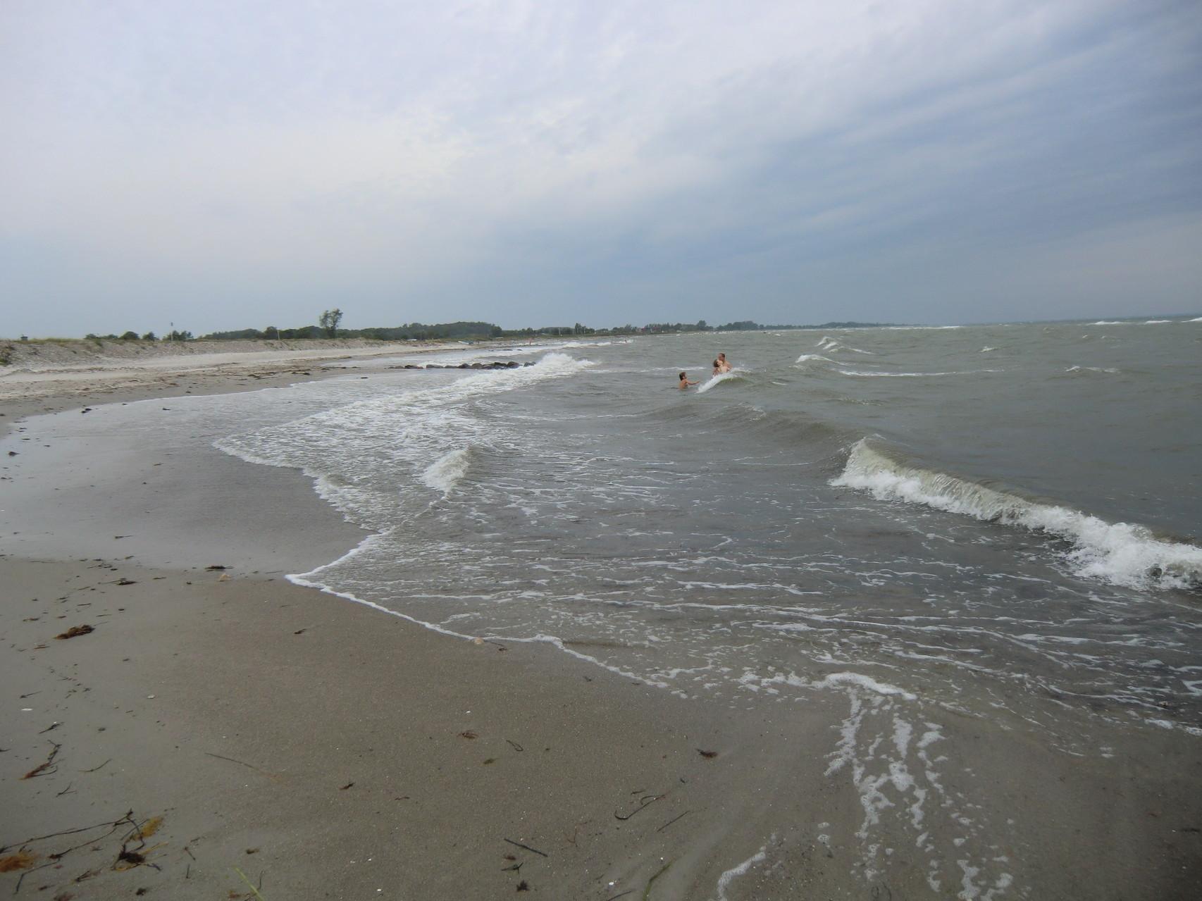 mit großen Wellen