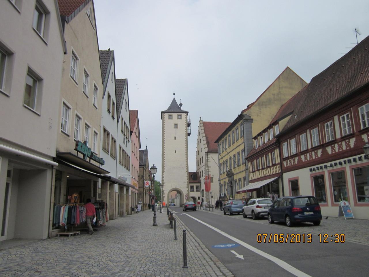 die Hauptstraße von Haßfurt