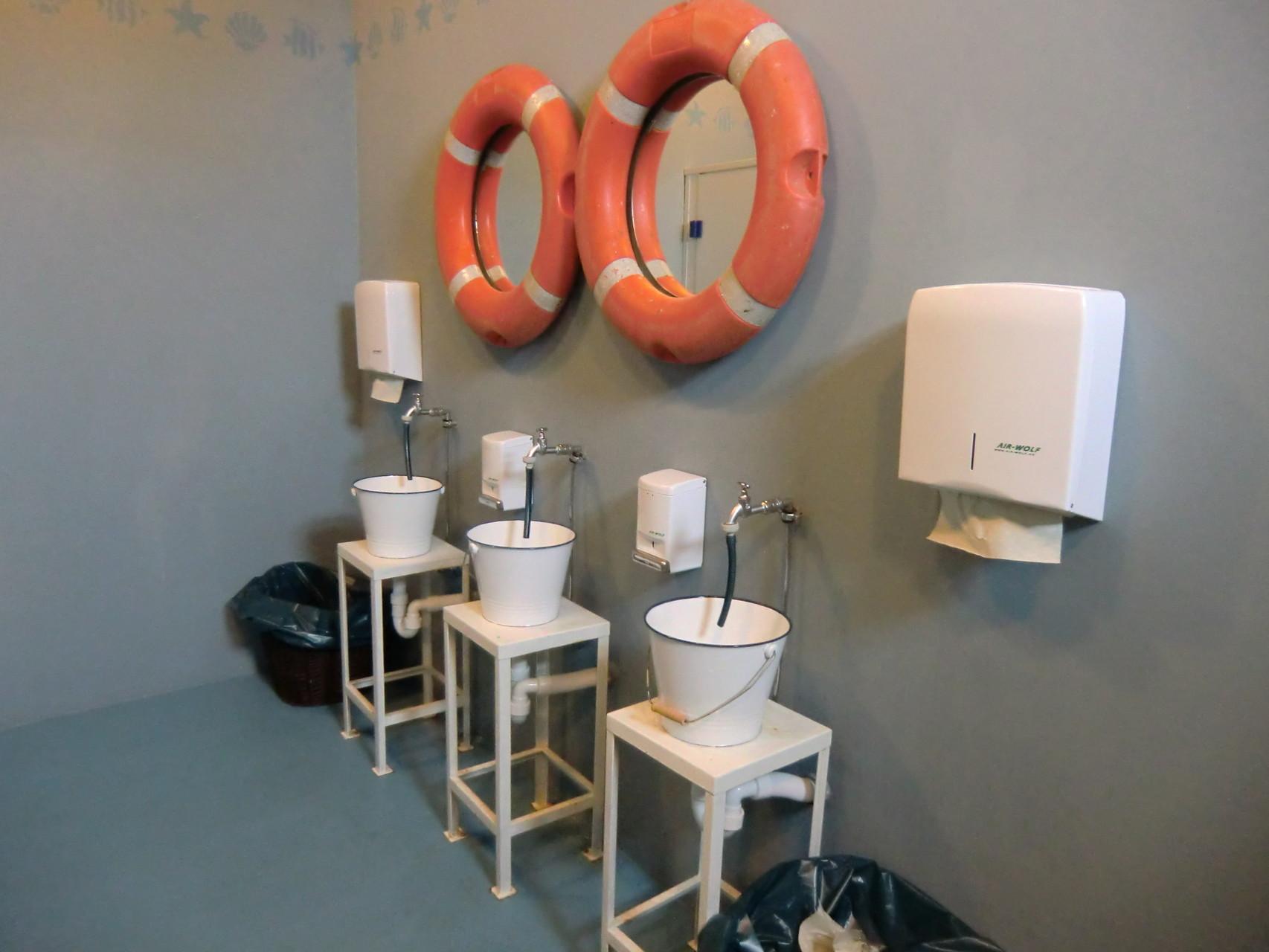 die maritime Toilette im Pier 7 fand ich auch mal sehenswert