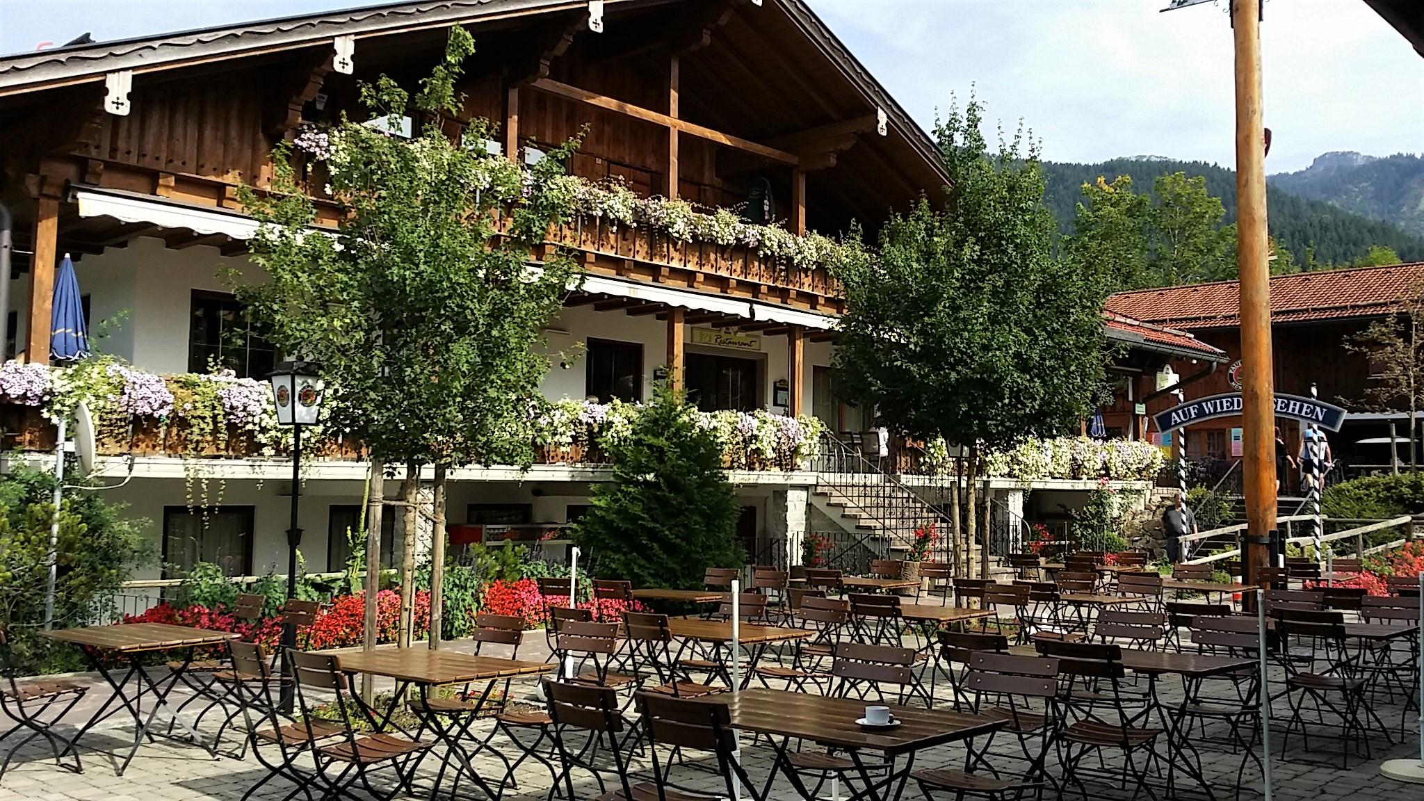 Biergarten und Gaststätte