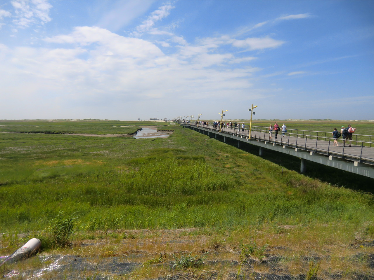 Die ca. 1 km lange Seebrücke in SPO