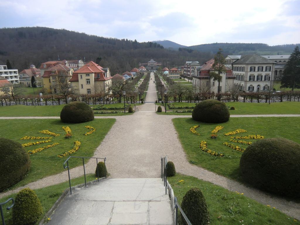 Blick vom Fürstenhof auf den Kurpark
