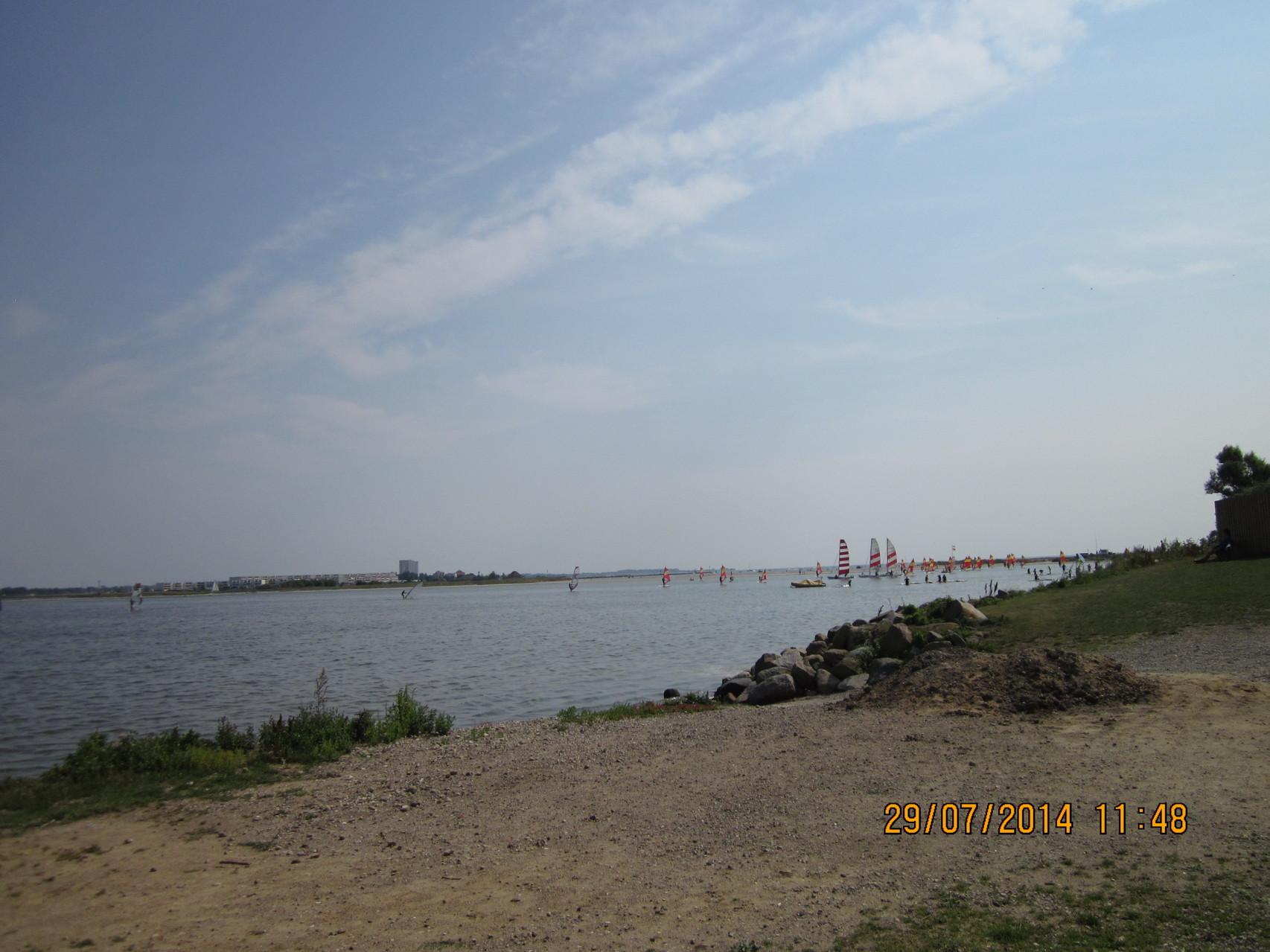 Der See direkt gegenüber vom Womo Stellplatz